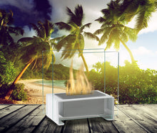 Load image into Gallery viewer, Eco-Feu Paris Tabletop Ethanol Fireplace - White (TT-00135-GW), Fireplace - Yardify.com