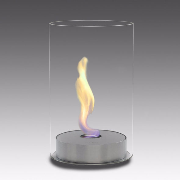 Eco-Feu Romeo Tabletop Ethanol Fireplace - Stainless Steel (TT-00102-SS), Fireplace - Yardify.com