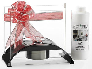 Eco-Feu Sunset Tabletop Ethanol Fireplace - Gloss Black (TT-00113-GB), Fireplace - Yardify.com