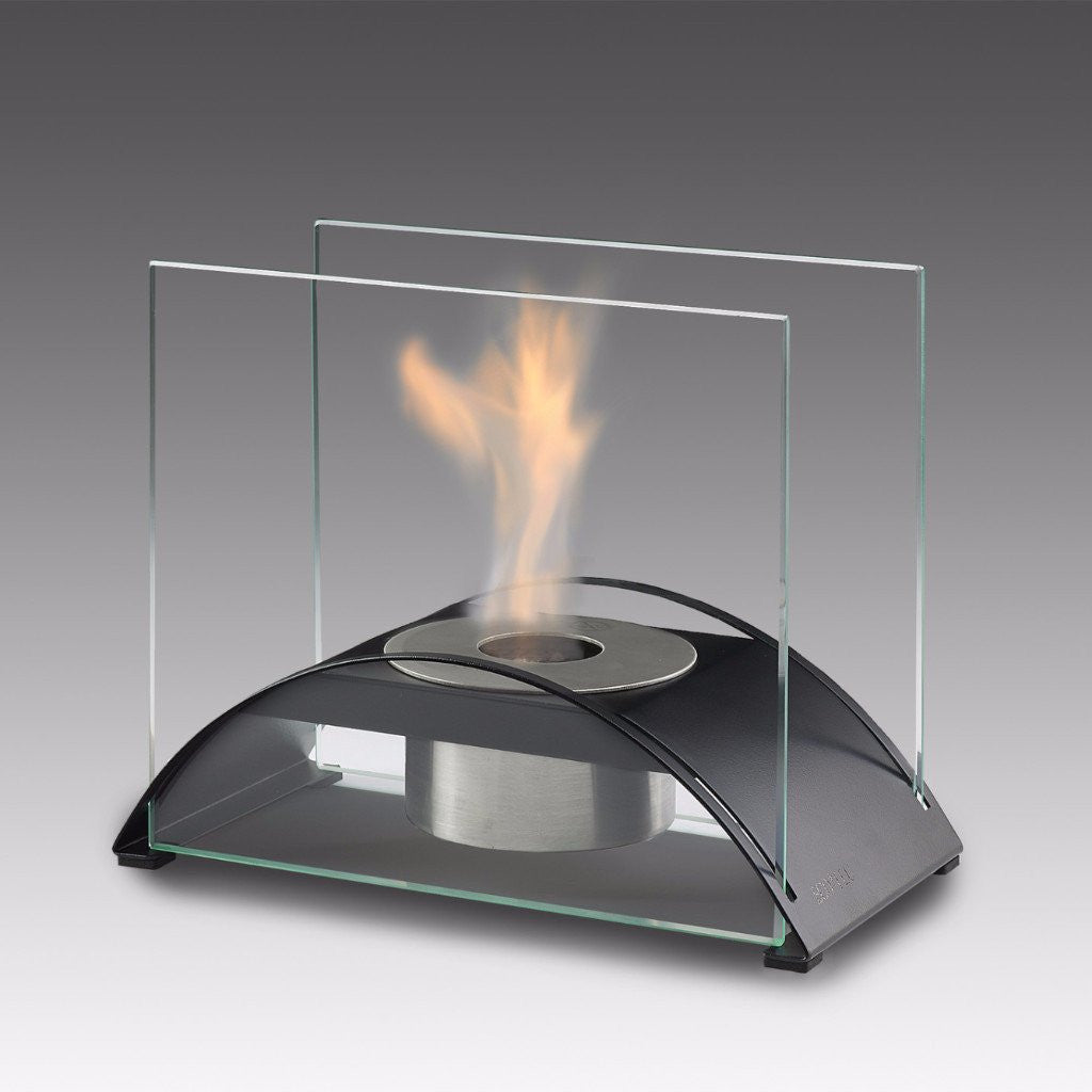 Eco-Feu Sunset Tabletop Ethanol Fireplace - Matte Black (TT-00130-MB), Fireplace - Yardify.com