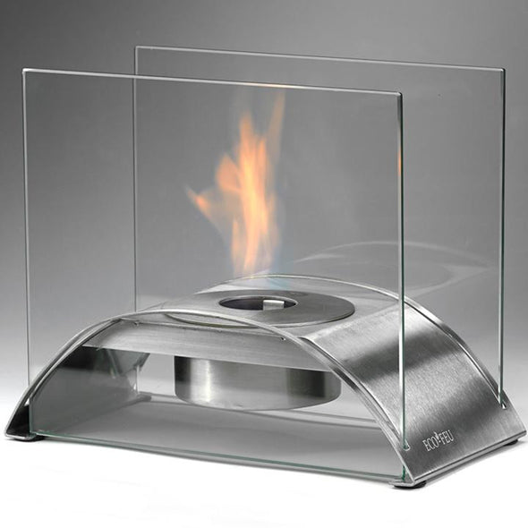 Eco-Feu Sunset Tabletop Ethanol Fireplace - Stainless Steel (TT-00114-SS), Fireplace - Yardify.com