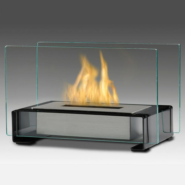 Eco-Feu Toulouse Tabletop Ethanol Fireplace - Gloss Black (TT-00140-GB), Fireplace - Yardify.com