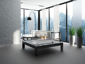 "Eco-Feu Vision I - 29"" Free Standing Ethanol Fireplace (WS-00094-BS, WS-00093-SS), Fireplace - Yardify.com"