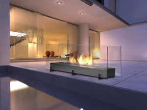 "Eco-Feu Vision II - 38"" Free Standing Ethanol Fireplace (WS-00096-BS, WS-00095-SS), Fireplace - Yardify.com"