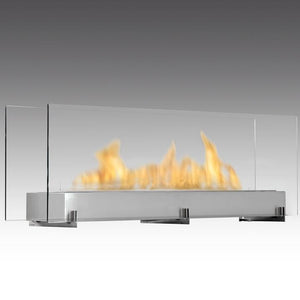 "Eco-Feu Vision III - 51"" Free Standing Ethanol Fireplace (WS-00098-BS, WS-00097-SS), Fireplace - Yardify.com"