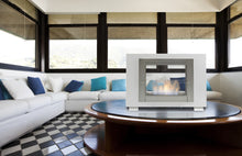 "Load image into Gallery viewer, Eco-Feu Wellington - 33.5"" UL Listed Built in / Free Standing See through 2 - Side Ethanol Fireplace - (WS-00073-BS, WS-00074-SW, WS-00075-SS), Fireplace - Yardify.com"