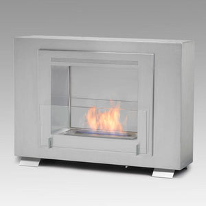 "Eco-Feu Wellington - 33.5"" UL Listed Built in / Free Standing See through 2 - Side Ethanol Fireplace - (WS-00073-BS, WS-00074-SW, WS-00075-SS), Fireplace - Yardify.com"