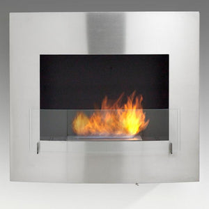 "Eco-Feu Wynn - 33.5"" UL Listed Wall Mounted / Built - In Ethanol Fireplace (WU-00071-MB, WU-00072-SS), Fireplace - Yardify.com"