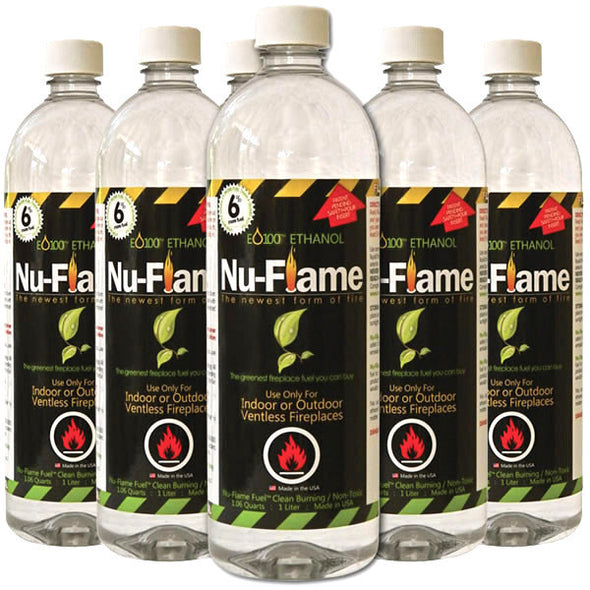 Nu-Flame Bio-Ethanol Fireplace Fuel - 6 OR 12 PACK, Fireplace - Yardify.com