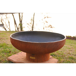 "FIRE PIT ART LOW BOY - 36"" HANDCRAFTED CARBON STEEL FIRE PIT (LB)"