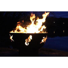 "Load image into Gallery viewer, FIRE PIT ART SEA CREATURES - 36"" HANDCRAFTED CARBON STEEL FIRE PIT (SEA)"