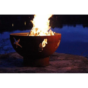 "FIRE PIT ART SEA CREATURES - 36"" HANDCRAFTED CARBON STEEL FIRE PIT (SEA)"