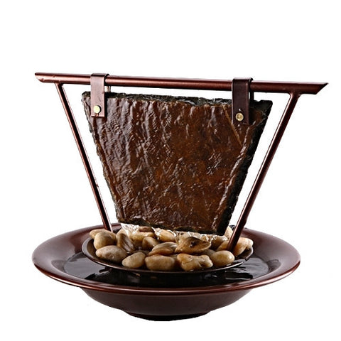 Bluworld USA Haiku Moon Tabletop Fountain - Yardify.com