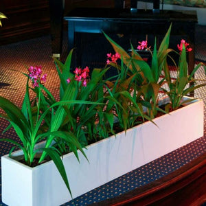 "Jay Scotts Wheeling Table Top Planter: 44"" x 7"" x 7""H"