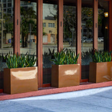 "Load image into Gallery viewer, Milano Rectangular Fiberglass Planter Box: 24""L x 10""W x 24""H"