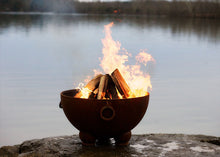 Load image into Gallery viewer, Fire Pit Art Nepal Handcrafted Carbon Steel Fire Pit (NP), Fireplace - Yardify.com