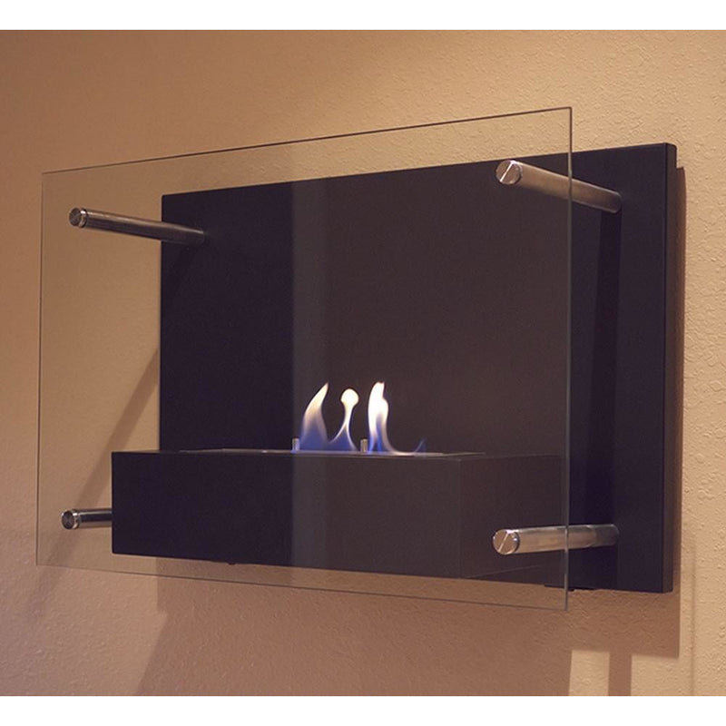Bluworld Nu-Flame Radia Modern Wall Mounted Fireplace - Yardify.com