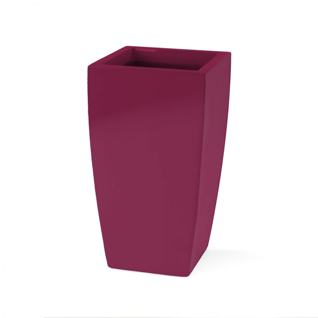 Jay Scotts Toulan Tall Tapered Square Fiberglass Planter: 18