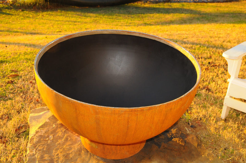 "Fire Pit Art Crater - 36"" Handcrafted Carbon Steel Fire (CTR)"