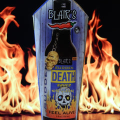 Blair's Sudden Death Hot Sauce with Ginseng & Skull Key Chain