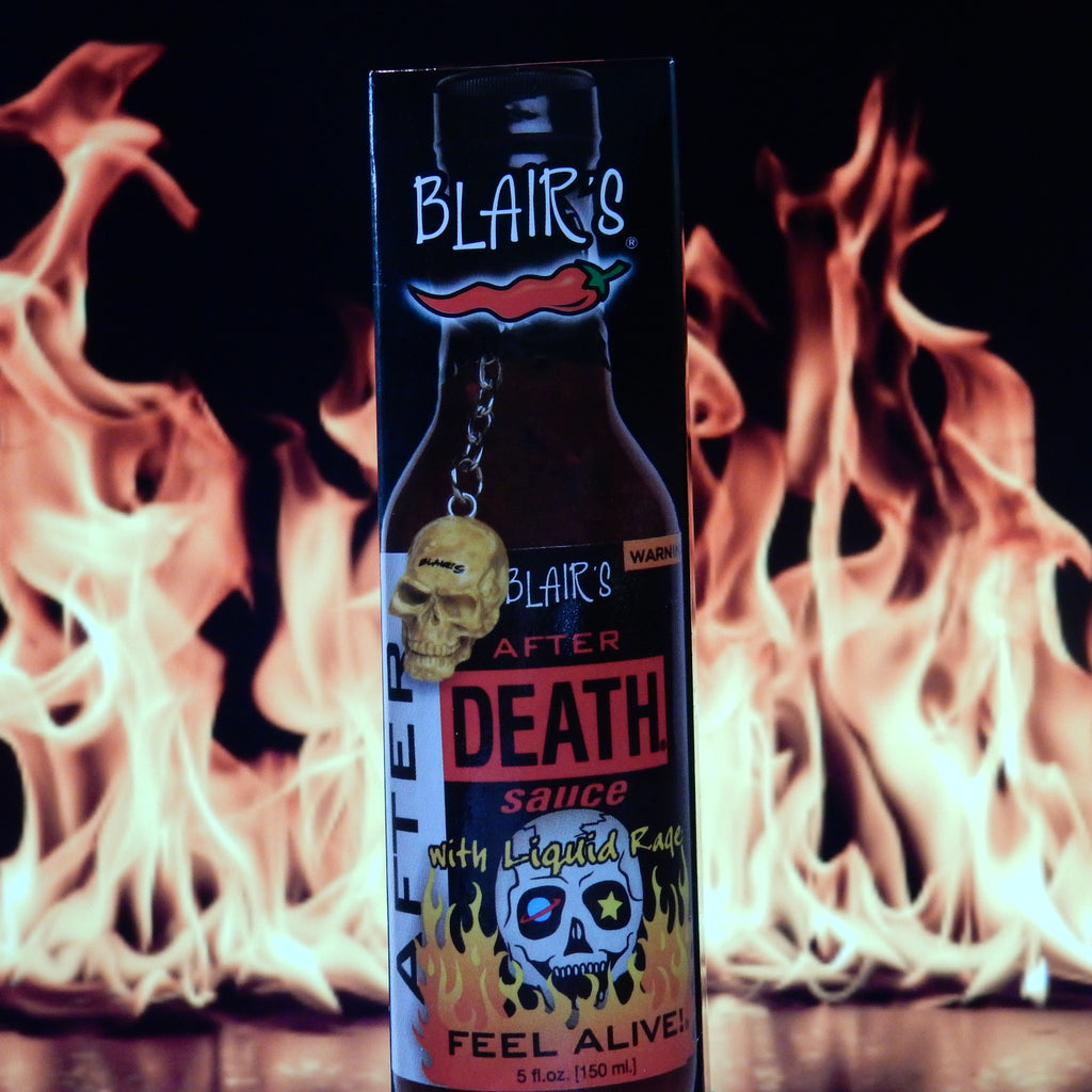 Blair's After Death Hot Sauce with Liquid Rage & Skull Key Chain