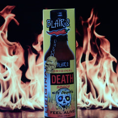 Blair's Original Death Sauce with Chipotle & Skull Key Chain