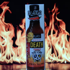 Blair's Sweet Death Hot Sauce with Mango & Skull Key Chain