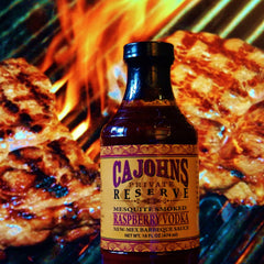 CaJohns Mesquite Smoked Raspberry Vodka New-Mex Barbeque Sauce