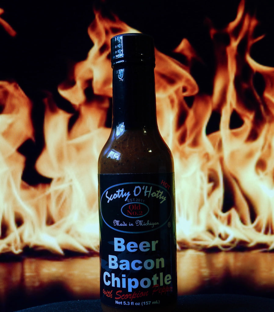 Scotty O'Hotty Beer Bacon Chipotle with Scorpion Peppers Hot Sauce