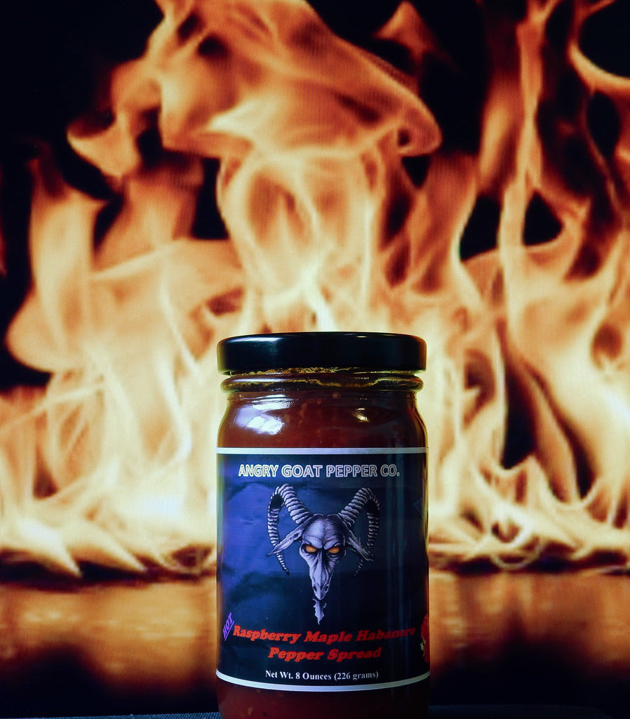 Angry Goat Raspberry Maple Habanero Pepper Jam