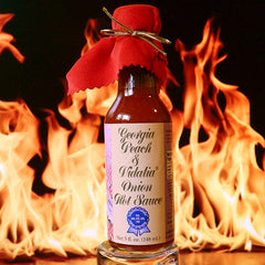 Georgia Peach and Vidalia Onion Hot Sauce | The Flaming Hoop Chilies - Order Hot Sauces Online