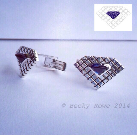 Blue Diamond cuff links