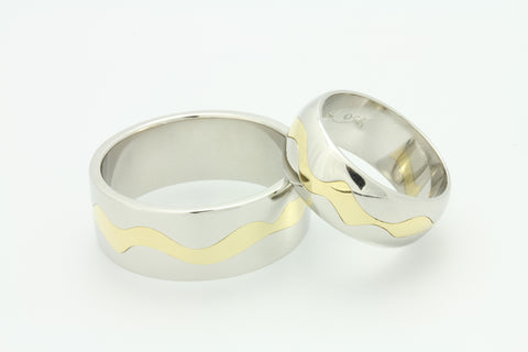 His and Hers Wedding Rings.