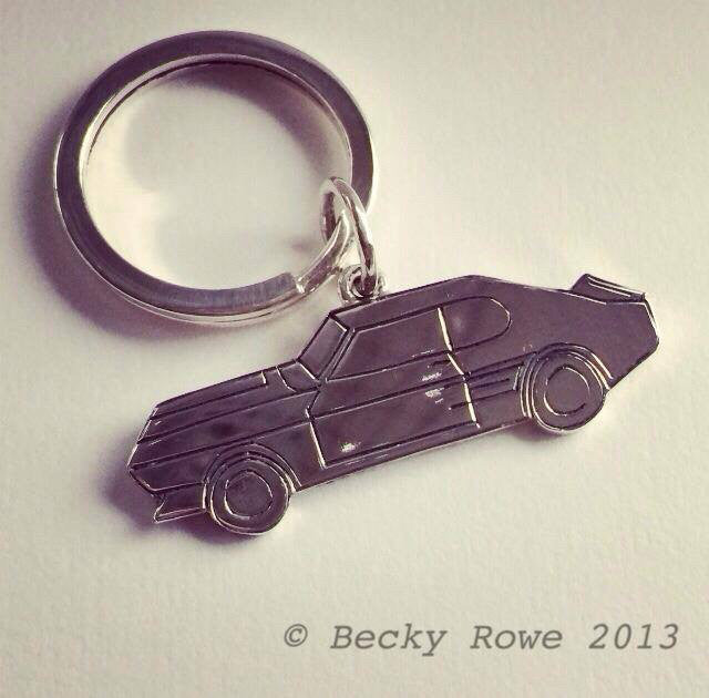 Mustang Car Key Ring