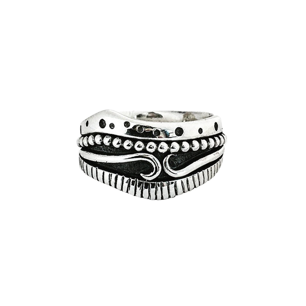 Sterling Silver Multi-Detail Ring