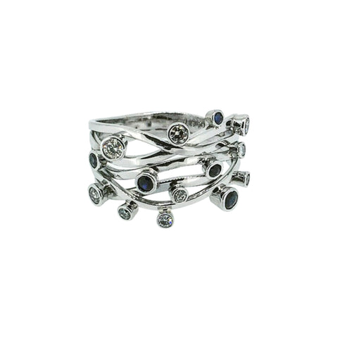 Platinum Mutilstone Ring