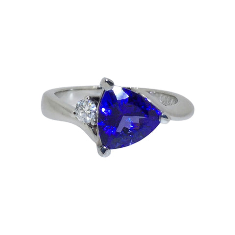 Tanzanite Trillion Ring