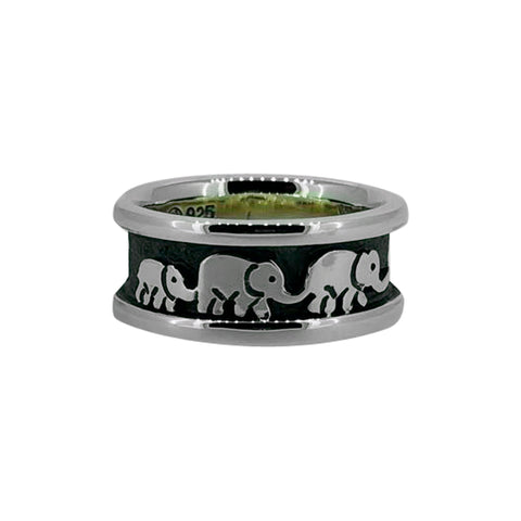 Elephant Family Ring