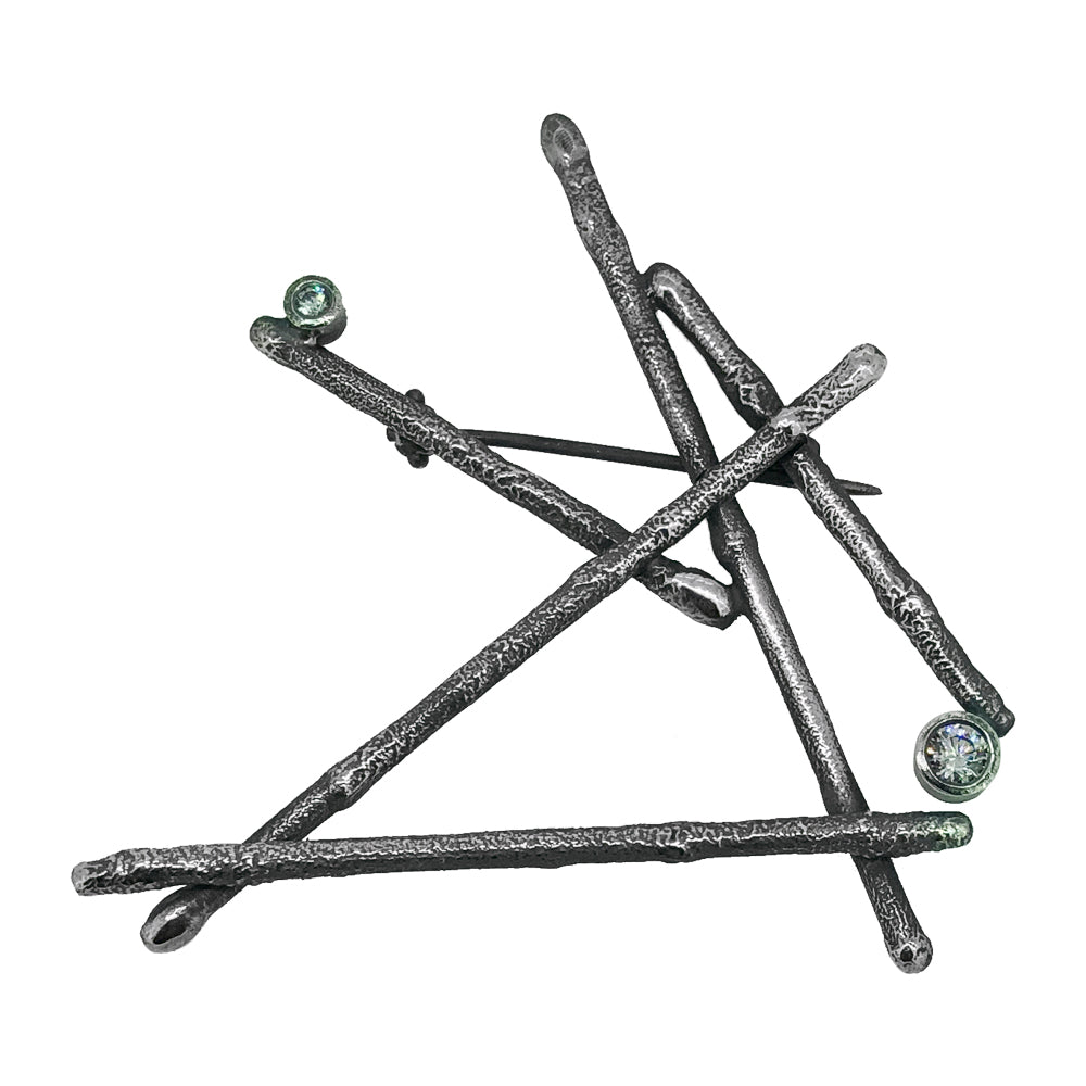 Sticks and Stones Brooch
