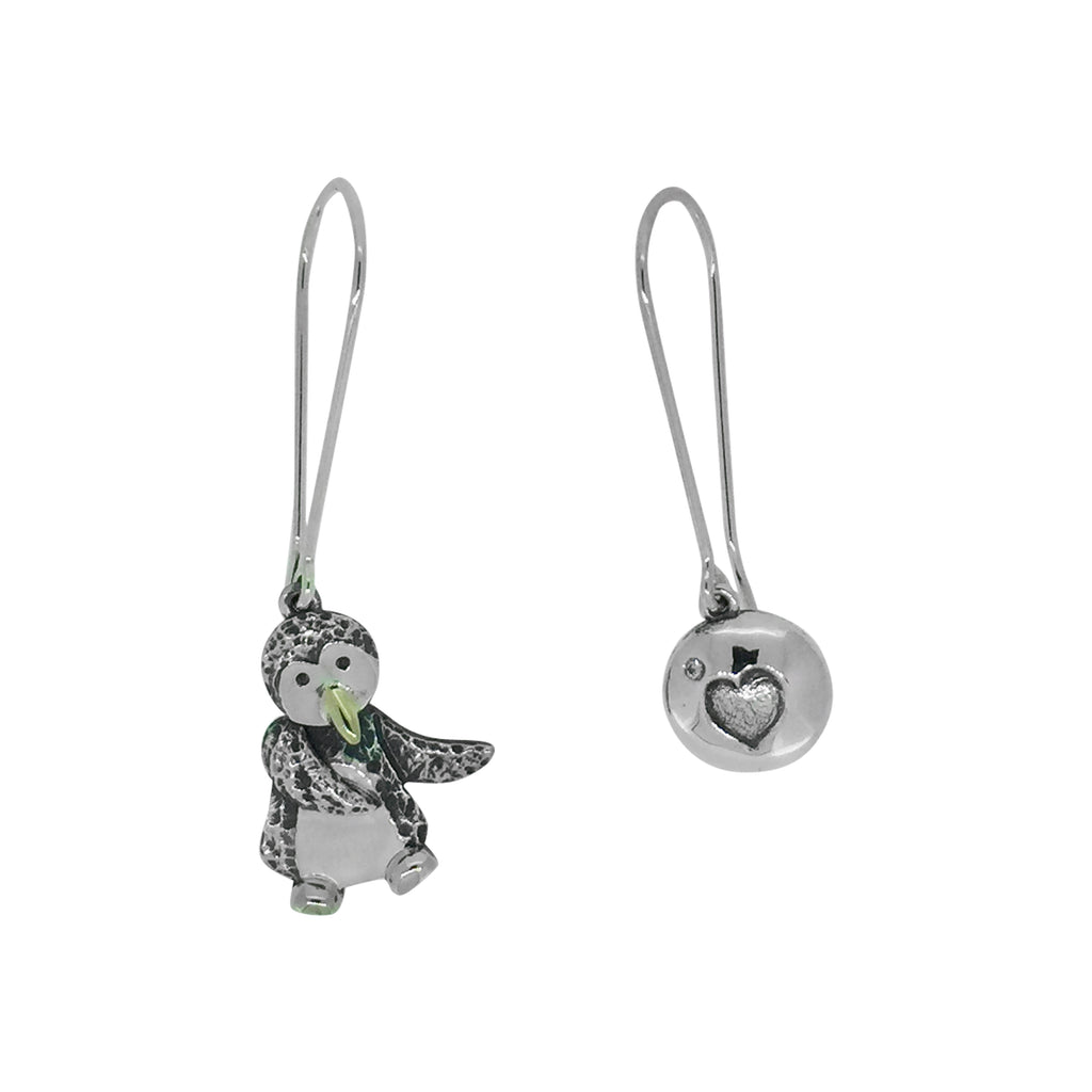 Wiggly Penguin Earrings