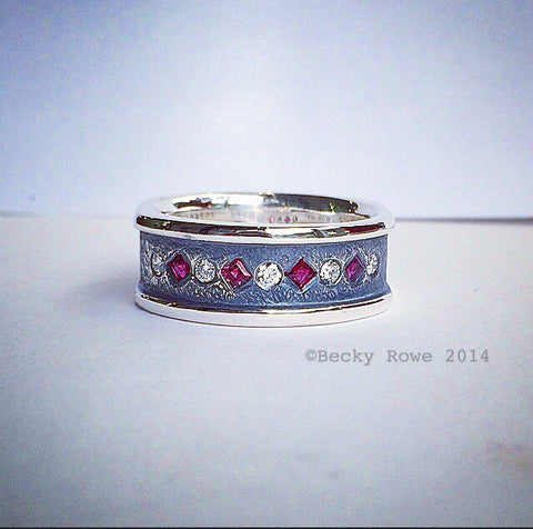 Ruby and Cubic Zirconia Ring