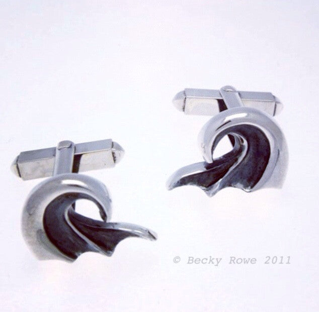 Wave Cuff Links