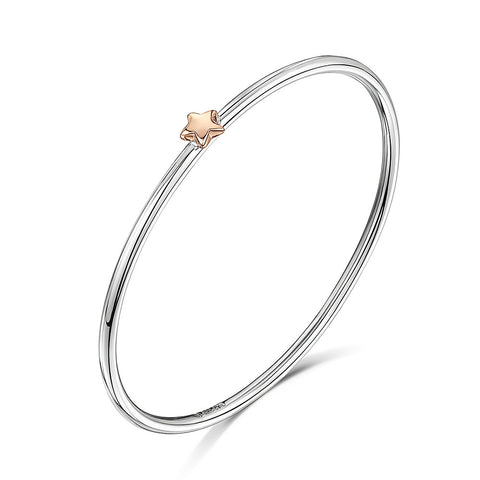 Smooth bangle with star charm