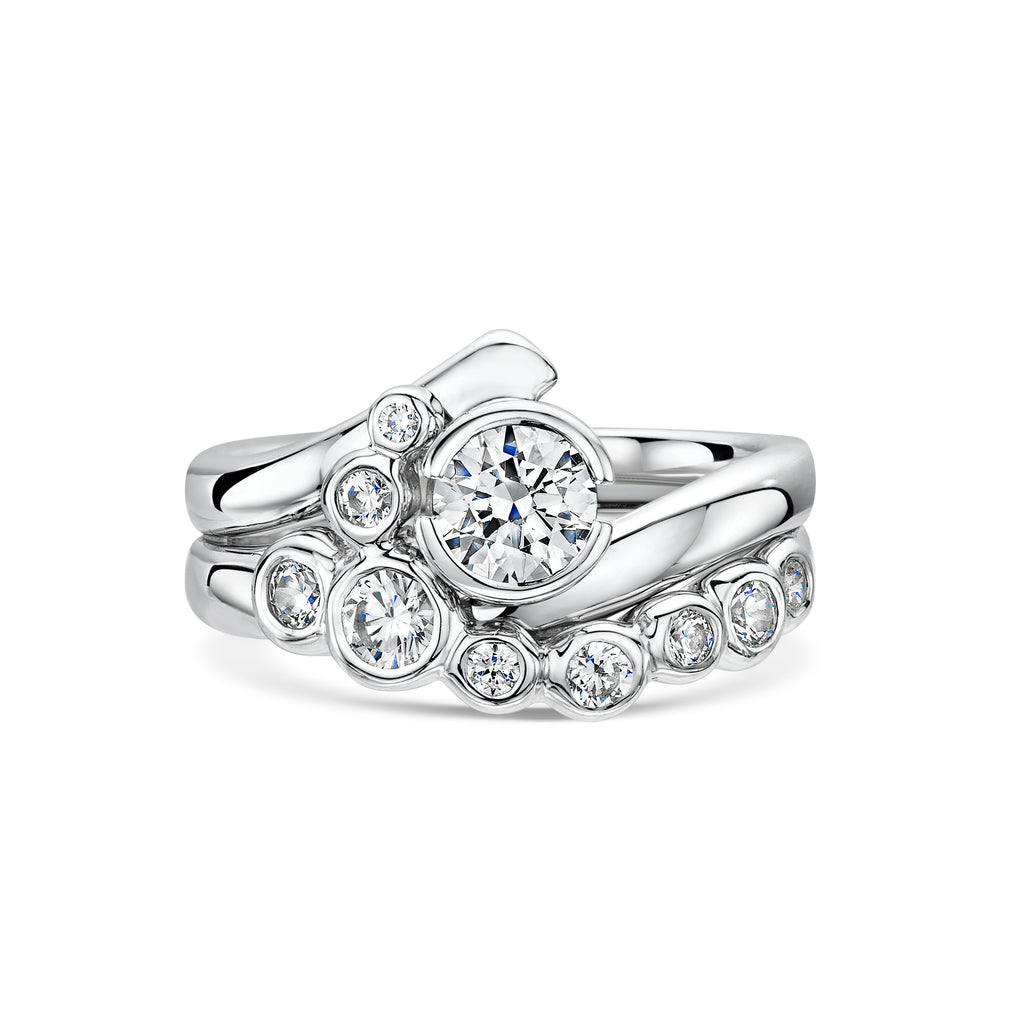 Fitted Engagement & Wedding Ring Set
