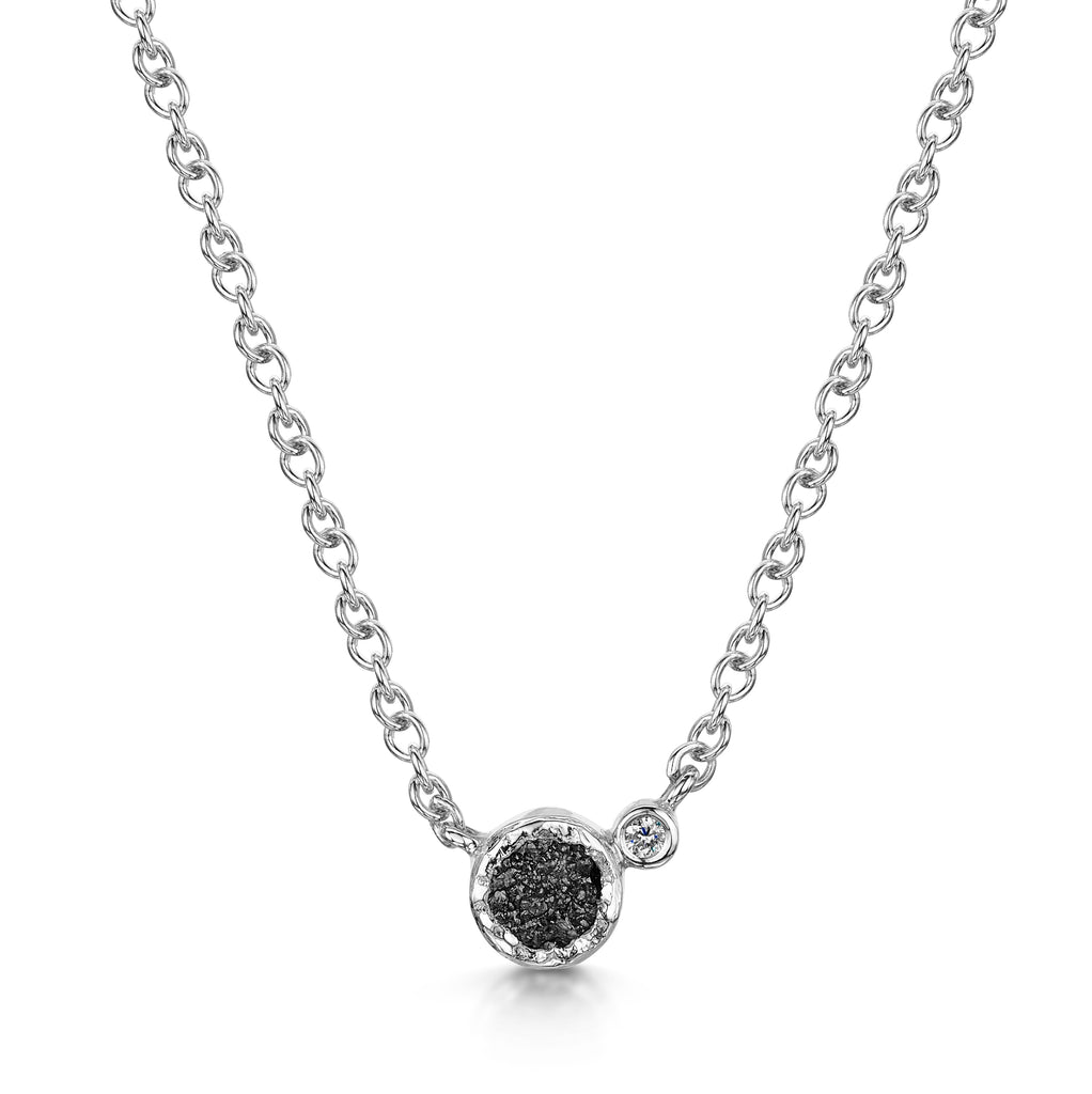 Rough & Brilliant Cut Diamond Pendant
