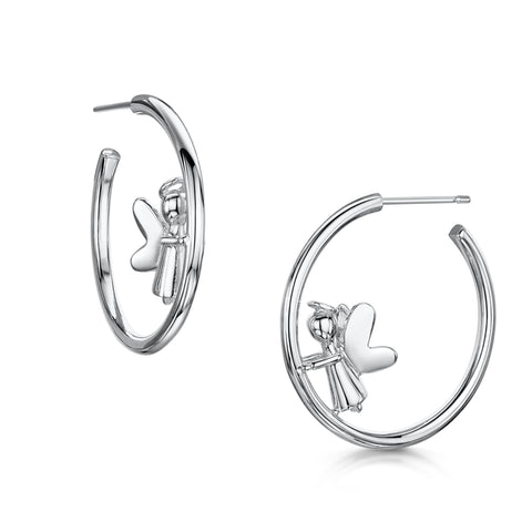 Angel Hoop Earrings