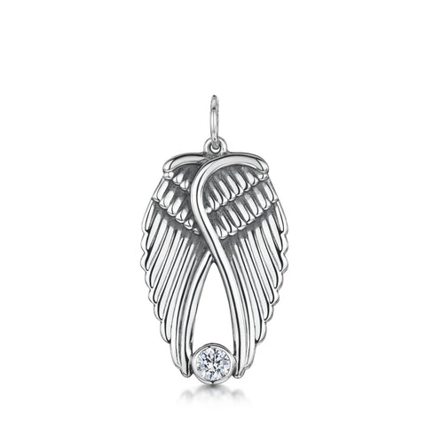 Large Angel Wings Pendant (fixed)