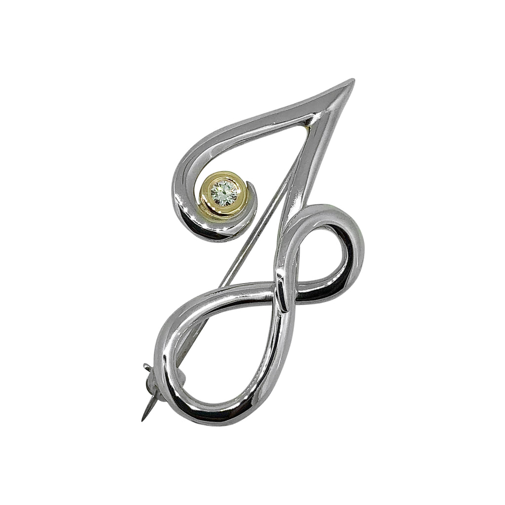 'J' and Infinity Brooch