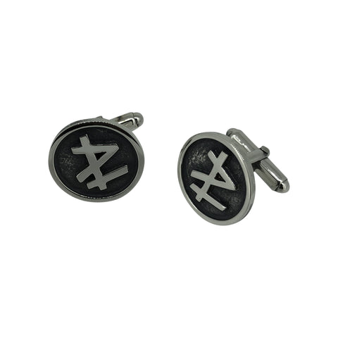'P L' Initial Cufflinks and Pendant