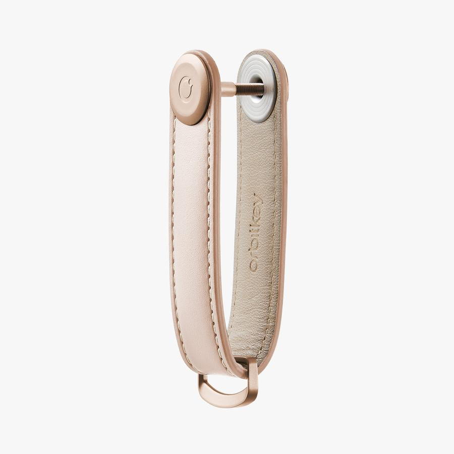 Key Oganiser Leather - Blush with Blush Stitching